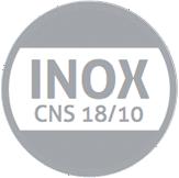 inox cns 18 10 grau